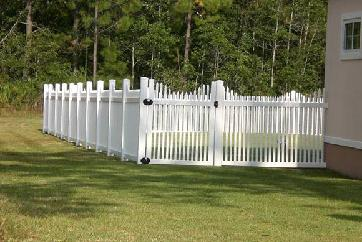 Small White Fence